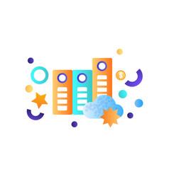 business elements data cloud storage management vector image