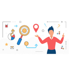 business people and creative idea search vector image