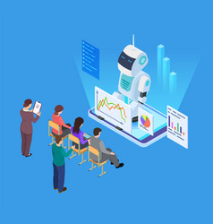 business training with artificial intelligence vector image