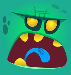 Cartoon halloween zombie face vector
