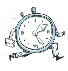 Clock running out of time vector
