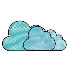 Cloud weather abstract vector