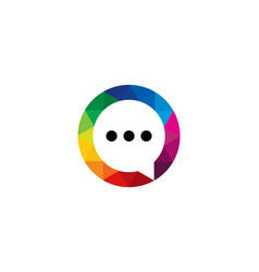 color chat logo icon design vector image