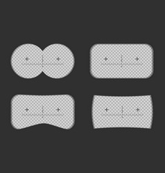 creative of binoculars view vector image