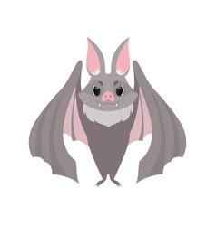 cute gray bat funny creature cartoon character vector image