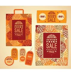 Design set for autumn sale vector