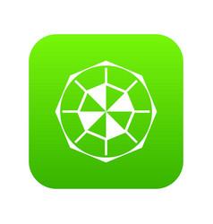 diamond gemstone icon digital green vector image