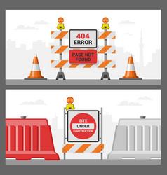 error 404 page internet problem web warning vector image