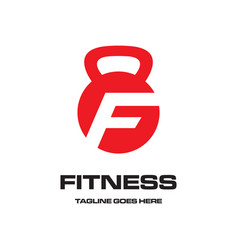 f for fitness logo vector image