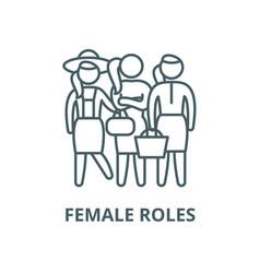 female roles line icon linear concept vector image