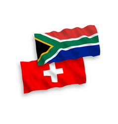 flags switzerland and republic south africa vector image
