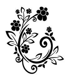 flourishes black vector image
