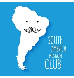 Fun mustache club cartoon South America hand drawn vector