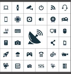 Hi-tech icons universal set for web and ui vector