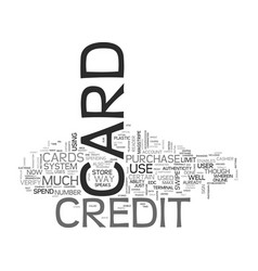 Is your credit card good enough text background vector