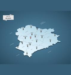 isometric 3d belarus map concept vector image