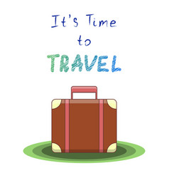 it s time to travel vector image