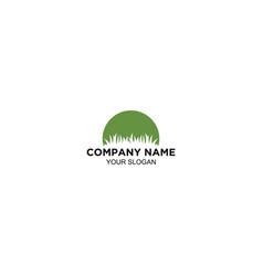 Lawn care service logo design vector