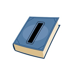 Letter I at Vintage books in hardcover vector