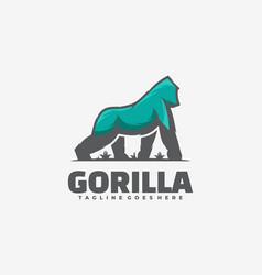 logo gorilla simple mascot style vector image