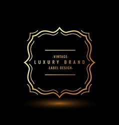 luxury symbol design vector image