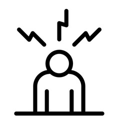 Man depression icon outline style vector
