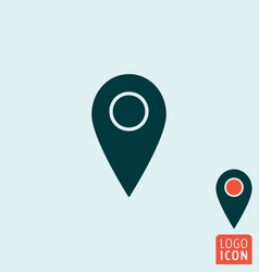 mark icon map pointer symbol vector image