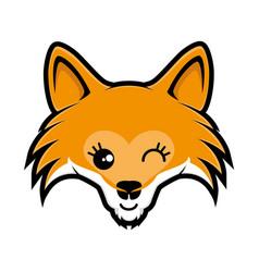 mask of a happy fox vector image