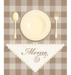 Menu with cutlery vector