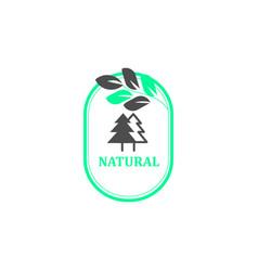 Natural logo minimal line style eps 10 vector