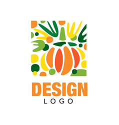 Original fruit logo template sweet and healthy vector