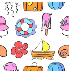 Patter summer theme collection stock vector