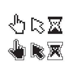 Pixel cursors vector image