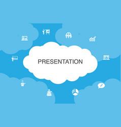 Presentation infographic cloud design template vector