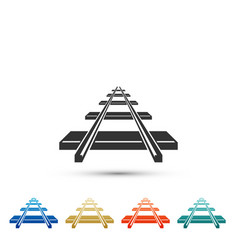 railroad icon isolated on white background vector image