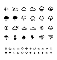 Retina weather icon set vector image