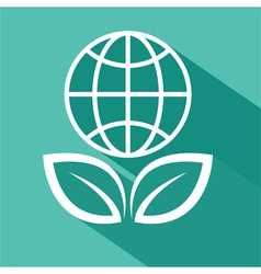 Save the planet flat design vector