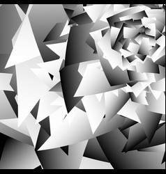 Scattered edgy shapes overlapping random shapes vector