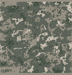 Seamless khaki camouflage of pixel pattern vector