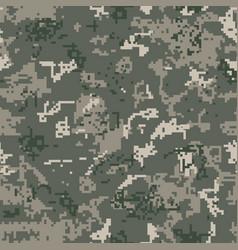 Seamless khaki camouflage pixel pattern vector