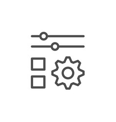 Settings line icon vector