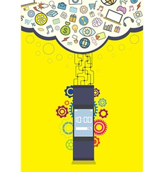 Smartwatch wearable technology vector