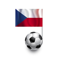 Soccer Balls or Footballs with flag of Czech Repub vector image vector image
