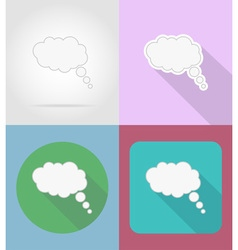 speech bubbles flat icons 06 vector image