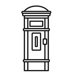 Street post box icon outline style vector