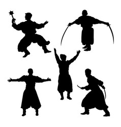 Theatrical performance silhouettes 02 vector