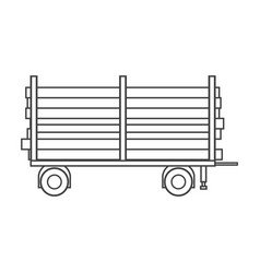 Timber carrier hand-drawn on white background vector