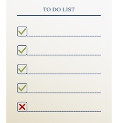 To do list with check mark format vector