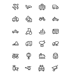 Transport Line Icons 2 vector