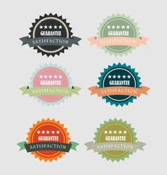 Vintage satisfaction guarantee round emblem vector